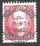 Stamps Europe - Denmark -  891 - Margarita II de Dinamarca