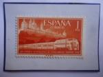 de Europa - España -  Ed:1235-XVII Congreso Internacional de Ferrocarriles-Madrid 1958-Monast. de Sn.Lorenzo de El Escoria