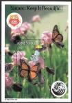 Stamps : America : Grenada :  mariposas
