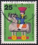 Sellos del Mundo : Europa : Alemania : jinete con caballo
