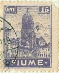 Sellos de Europa - Italia -  Fiume - Torre de la cloche