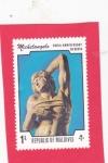 Stamps Maldives -  500 aniversario nacimiento Michelangelo