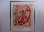 Sellos de Europa - Yugoslavia -  Campesina Yugoslava - Cultivo - Sello de 2 Dinar Yugoslavo año 1953.