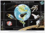 Stamps Oceania - Micronesia -  20 Aniversario del alunizaje del modulo lunar del Apolo 11