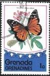 Sellos del Mundo : America : Granada : mariposas