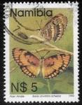 Stamps : Africa : Namibia :  mariposas