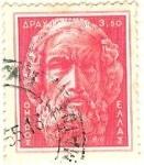 Stamps Greece -  Homero