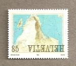 Stamps Switzerland -  Formación geológica de los Alpes
