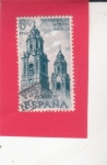 Stamps Spain -  Catedral de Morella-Mexico(46)