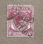 Sellos de Asia - Singapur -  Jorge VI