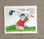 Stamps Switzerland -  comics
