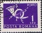 Stamps : Europe : Romania :  Correos y Telecomunicaciones II, Cuerno postal con relámpago
