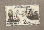 Stamps Czechoslovakia -  Rescate víctimas de las inundaciones
