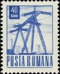 Stamps : Europe : Romania :  Correos y Transportes, Torres de energía