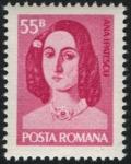 Stamps : Europe : Romania :  Muerte Centenario de Ana Ipatescu (revolucionaria), luchadora en la revolución de 1848