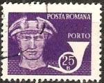 Stamps : Europe : Romania :  Correos y telecomunicaciones IV, Dios Mercurio, Cuerno de correos