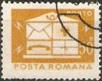 Stamps : Europe : Romania :  Correos y telecomunicaciones IV, Buzón