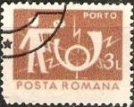 Stamps : Europe : Romania :  Correos y telecomunicaciones IV, cartero y bocina de Correos