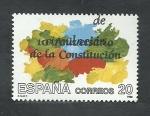 Stamps : Europe : Spain :  10 aniver.de la constitucion