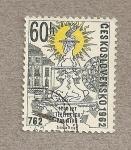 Stamps Czechoslovakia -  Fuente de Clarys en Teplice