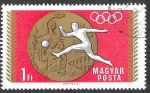Stamps : Europe : Hungary :  1952 - Medalla Olímpica y Fútbol