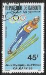 Stamps : Africa : Djibouti :  Juegos Olimpicos de Invierno Calgary 1988