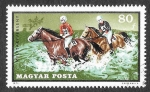 Stamps : Europe : Hungary :  2099 - Deportes Ecuestres
