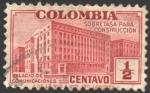 Sellos de America - Colombia -  Sobretasa para construcción. Palacio de Comunicaciones.