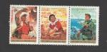 Stamps : Asia : China :  XXV Aniv. Republica Popular China, Defensa