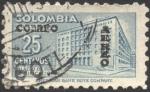 Stamps Colombia -  Sobretasa para construcción. Palacio de Comunicaciones. Correo aéreo.