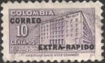 Stamps Colombia -  Sobretasa para construcción. Palacio de Comunicaciones. Sobreimpreso Correo extrarápido.