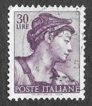 Sellos del Mundo : Europa : Italia : 819 - Escultura de Michelangelo