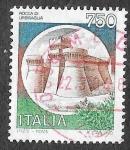 Sellos del Mundo : Europa : Italia : 1659 - Fortificación Rocca di Urbisaglia