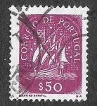 Sellos del Mundo : Europa : Portugal : 621 - Barco Antiguo de Vela