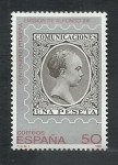 Stamps : Europe : Spain :  csntenario 1era.emicion Alfonso  XIII