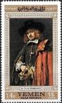 Stamps : Asia : Yemen :  Pinturas de Rembrandt (borde dorado), Jan Six de Rembrandt