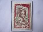 Stamps : Europe : France :  Champmeslé- (Marie Desmares- 1642-1698-Actriz Francesa )- La Champmesle en el papel de Roxane..