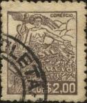 Stamps Brazil -  Comercio.
