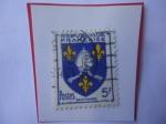 Stamps : Europe : France :  Saintonge - Condado Histórico Francés - Escudo de Armas Provinciales.