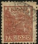 Stamps Brazil -  Máquinaria de recolección de Trigo.