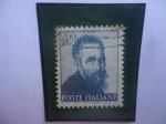 Stamps : Europe : Italy :  Michelangelo Buonarroti (1475-1553)-Miguel Ángel Buonarroti- El Genio del Renacimiento-Fresco de la