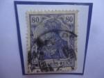 Stamps : Europe : Germany :  Alemania Reino- Serie: 1920-1922- Sello de 80 reichpfennig.