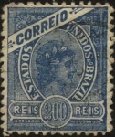 Stamps Brazil -  Cabeza de Libertad.