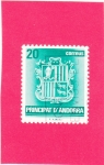 Stamps : Europe : Andorra :  escudo andorrano