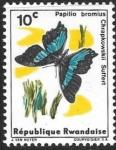 Stamps : Africa : Rwanda :  mariposas