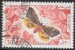 Stamps : Africa : Lebanon :  mariposas