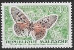 Stamps : Africa : Madagascar :  mariposas