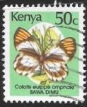 Stamps : America : Kenya :  mariposas