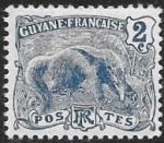 Sellos del Mundo : America : Guayana_Francesa : oso hormiguero