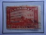 Stamps America - Canada -  Agricultura - Máquinas Agrícolas - Silos- Serie: King George V-1930/32.